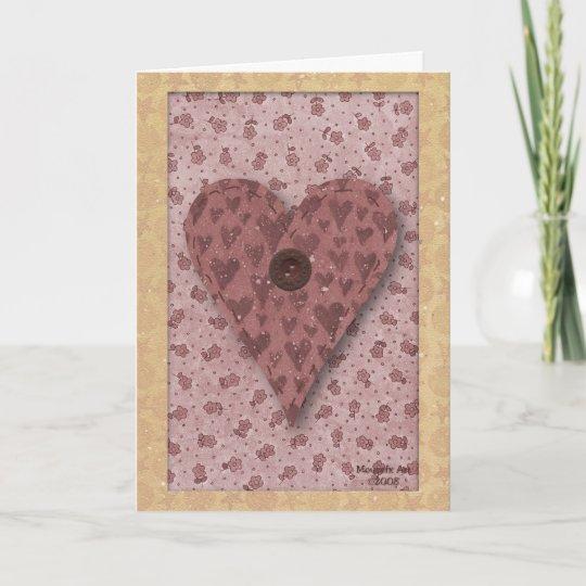 Heart Birthday Card Grandmother Large Print