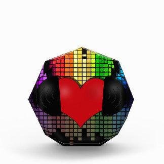 Heart bit acrylic award