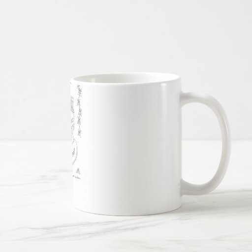 Heart Bithday Cake Line Drawing Classic White Coffee Mug