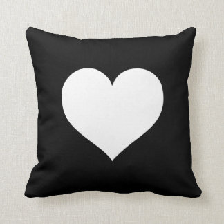 Heart Black and White Collection Throw Pillows