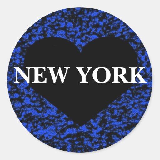 Heart Black New York Stickers