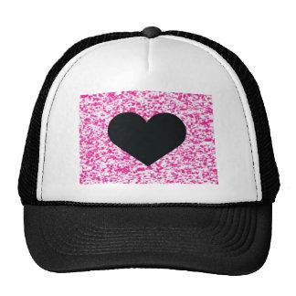 Heart Black Pink Trucker Hat