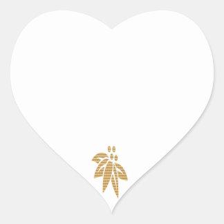 HEART Blanks with ThumbNail Art Ornament Heart Sticker