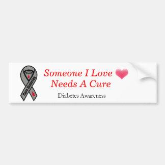 heart-blending, how-to-cure-diabetes, Diabetes ... Bumper Sticker