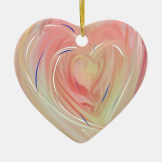 Heart Bloom Ceramic Ornament