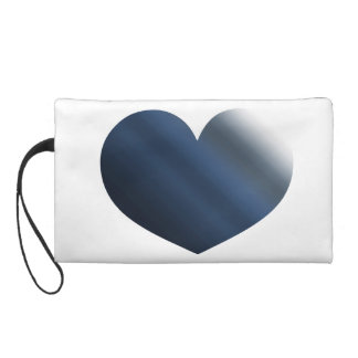 Heart Blue Gray Watercolor Ombre Wristlets