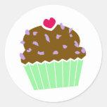 Heart Blueberry Choco Cupcake Stickers