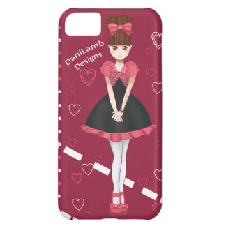 Heart Bolero Cute Anime Girl Binder Cover For iPhone 5C