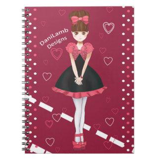 Heart Bolero Cute Anime Girl Notebook