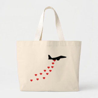 Heart bomber canvas bags