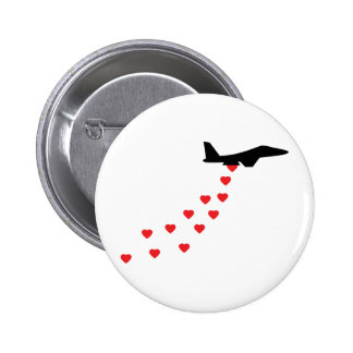 Heart bomber pinback button