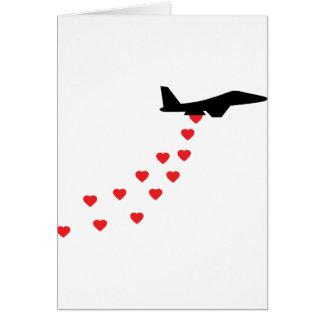 Heart bomber card