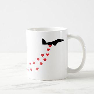 Heart bomber coffee mug