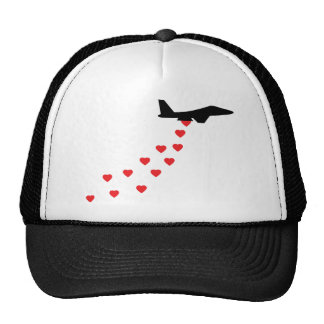 Heart bomber mesh hats