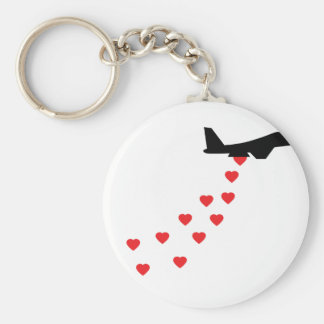 Heart bomber keychain