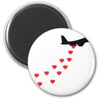 Heart bomber magnets