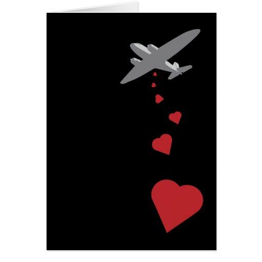Heart Bomber - Make Love Not War Greeting Card