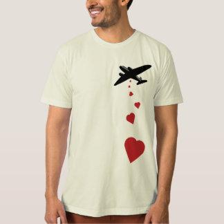 Heart Bomber - Make Love Not War T-Shirt