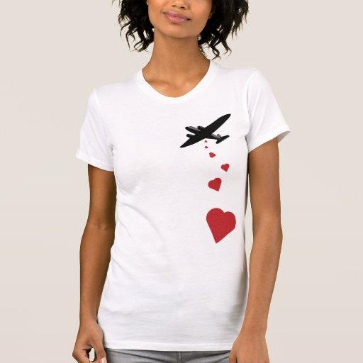Heart Bomber - Make Love Not War T Shirts
