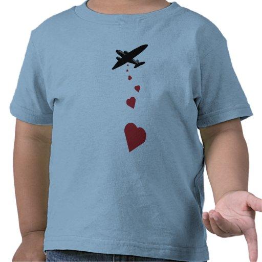 Heart Bomber - Make Love Not War Tshirt