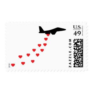 Heart bomber stamp