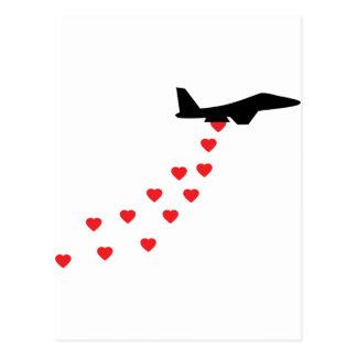 Heart bomber postcard