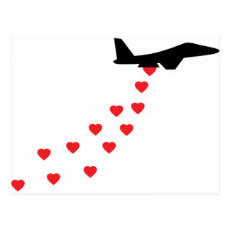 Heart bomber post cards