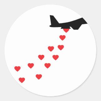 Heart bomber sticker