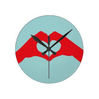 Heart Bondage Round Clock