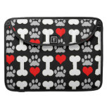 heart bone paws dog sleeves for MacBook pro