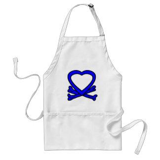 Heart & Bones Blue The MUSEUM Zazzle Gifts Adult Apron