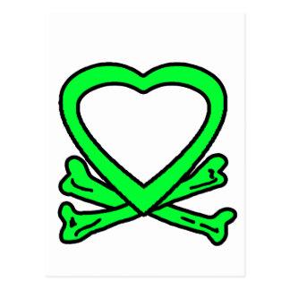 Heart & Bones Green The MUSEUM Zazzle Gifts Postcard