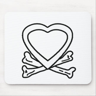 Heart & Bones White The MUSEUM Zazzle Gifts Mouse Pad