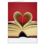 Heart Book Valentine's Day Card
