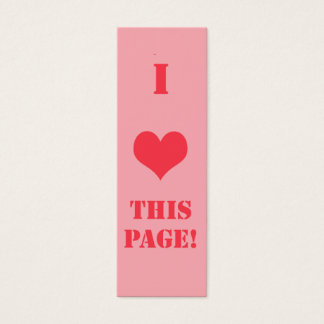 Heart Bookmark Customized Business Card