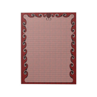 Heart Bordered Note Pad
