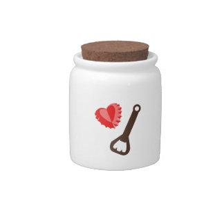 Heart Bottlecap Candy Jars