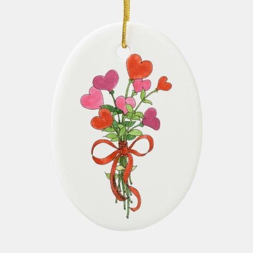 Heart Bouquet Keepsake Ornament