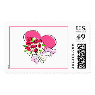 Heart & Bouquet Postage