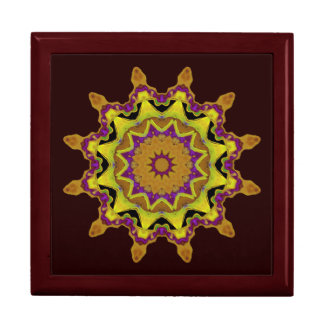 Heart Box Sun Gold Mandala Keepsake Box