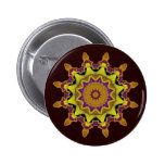 Heart Box Sun Gold Mandala Pinback Button
