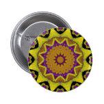 Heart Box Sun Gold Mandala Pinback Buttons