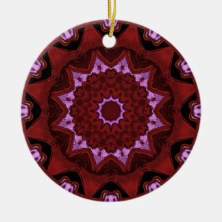 Heart Box Sun Rouge Double-Sided Ceramic Round Christmas Ornament