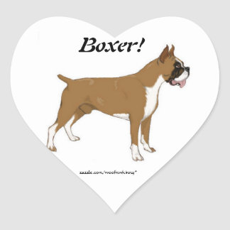 Heart Boxer Stickers