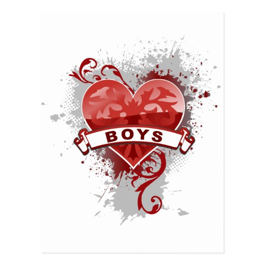 Heart Boys Postcard