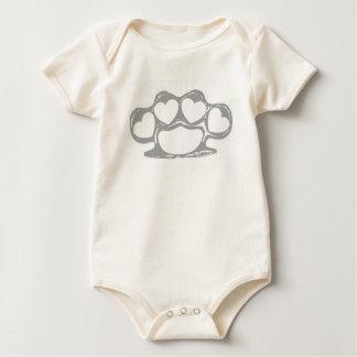Heart Brass Knuckles Baby Bodysuit