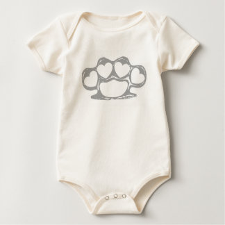 Heart Brass Knuckles Rompers