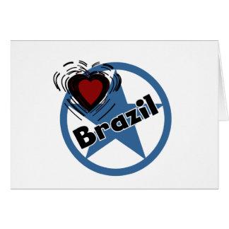 Heart Brazil Greeting Cards