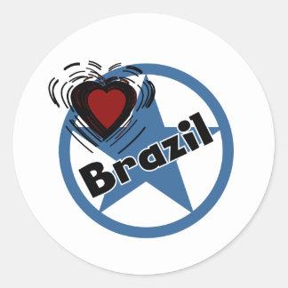 Heart Brazil Sticker