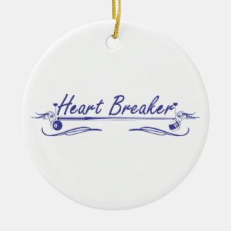 Heart Breaker Ceramic Ornament